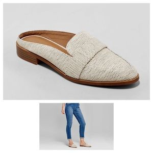 a new day Cream Amber Woven Loafer Mules 8M